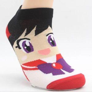 Sailor Moon Mars Socks